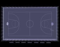 Terrain de basket. Rayon X Photos stock