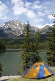 Terrain de camping Photos stock
