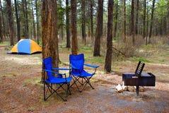 Terrain de camping Photographie stock