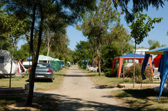 Terrain de camping Photo stock