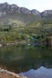Terrain de camping dans les montagnes de Cederberg Photos stock