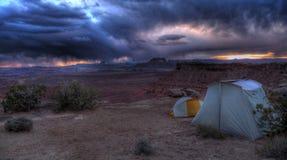 Terrain de camping de ligne de crête de Murphy Photos libres de droits
