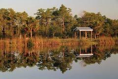 Terrain de camping intermédiaire Photo stock