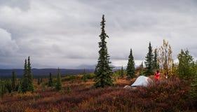 Terrain de camping de lac wonder photographie stock
