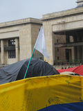 Terrain de camping pour la paix, à Bogota, la Colombie Image stock