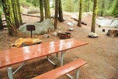 Terrain de camping vide Images libres de droits
