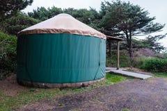 Terrain de camping Yurt sur la côte de l'Orégon Photo libre de droits