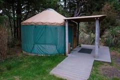 Terrain de camping Yurt sur la côte de l'Orégon Photos stock