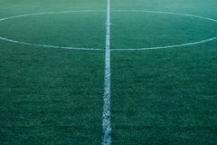 Terrain de football Photos stock