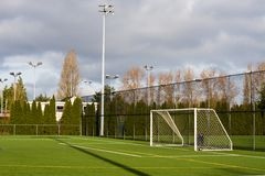 Terrain de football Photo libre de droits