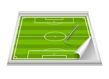 Terrain de football Photo stock