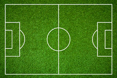 Terrain de football Photographie stock