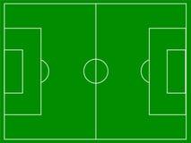 Terrain de football Images stock