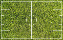 Terrain de football Photo stock