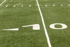Terrain de football Photographie stock libre de droits
