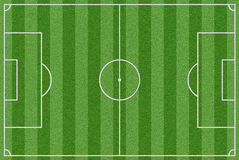 Terrain de football avec l'herbe réelle illustration stock