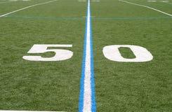 Terrain de football cinquante Image libre de droits