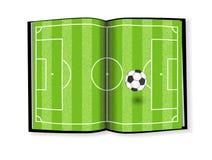 Terrain de football, conception de livre Images libres de droits