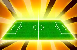 Terrain de football d'or Images libres de droits