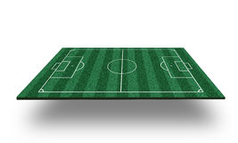 Terrain de football 3D Photographie stock libre de droits