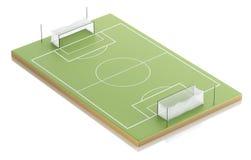 terrain de football 3d Photos stock
