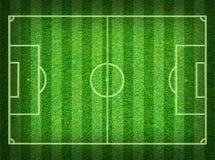 Terrain de football d'herbe verte Image stock