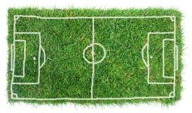 Terrain de football de griffonnage Photos stock