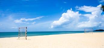 Terrain de football de plage Photo libre de droits