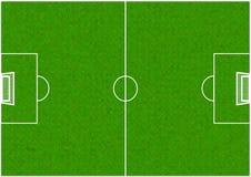 Terrain de football du football Images stock