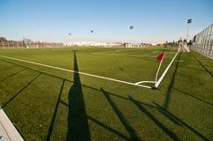 Terrain de football extérieur Images libres de droits