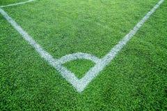 Terrain de football faisant le coin Photos libres de droits