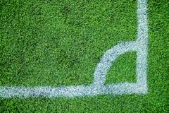Terrain de football faisant le coin Photographie stock libre de droits