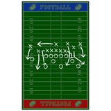 Terrain de football gameplan Photos stock
