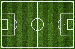 Terrain de football, image de plan rapproché de terrain de football naturel d'herbe verte Photographie stock libre de droits