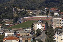 Terrain de football, Kruja, Albanie Photographie stock libre de droits