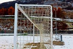 Terrain de football de Milou en hiver Photos libres de droits