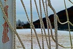 Terrain de football de Milou en hiver Images libres de droits