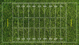Terrain de football (NFL) Photos libres de droits