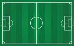 Terrain de football pour le plan d'équipe Photographie stock libre de droits