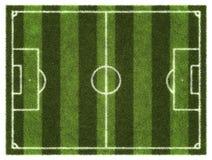 Terrain de football Silhouette d'homme se recroquevillant d'affaires Images stock