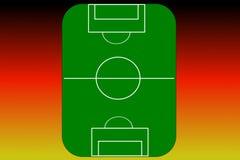 Terrain de football (vecteur) Photographie stock libre de droits