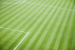 Terrain de football vide Photos libres de droits