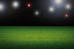 Terrain de football vide Photo stock