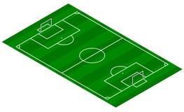 Terrain de football - vue isométrique illustration stock
