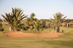 Terrain de golf à Marrakech photo stock
