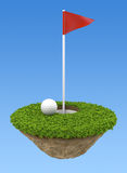 Terrain de golf illustration libre de droits