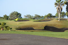 Terrain de golf Photos stock