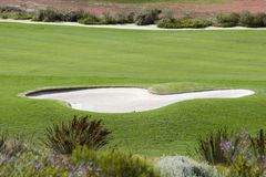 Terrain de golf Images libres de droits