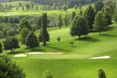 Terrain de golf photo stock
