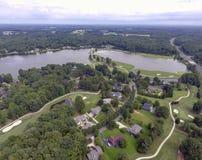 Terrain de golf aérien photographie stock
